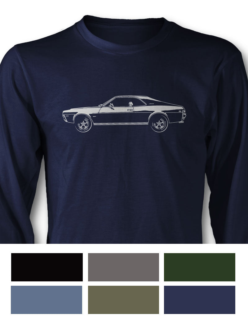 AMC Javelin 1969 Coupe Long Sleeve T-Shirt - Side View
