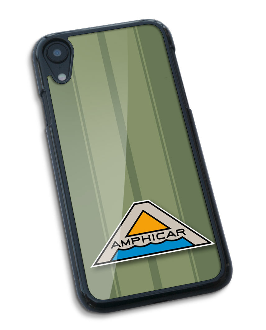 Amphicar Hans Trippel Badge Emblem Smartphone Case - Racing Stripes