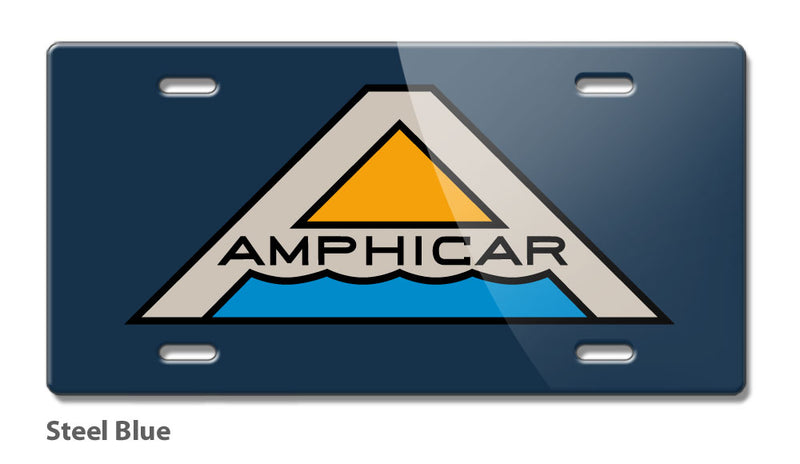 Amphicar Hans Trippel Badge Emblem Novelty License Plate - Vintage Emblem