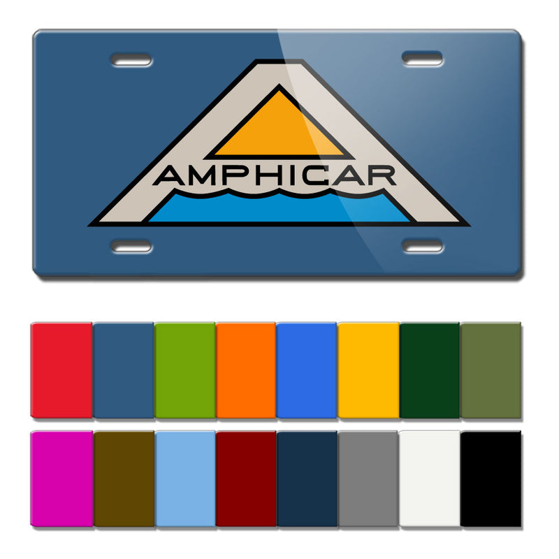 Amphicar Hans Trippel 1961 - 1968 Logo Novelty Vintage License Plate