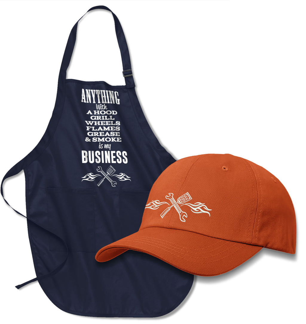 BBQ Apron + Baseball Cap BUNDLE