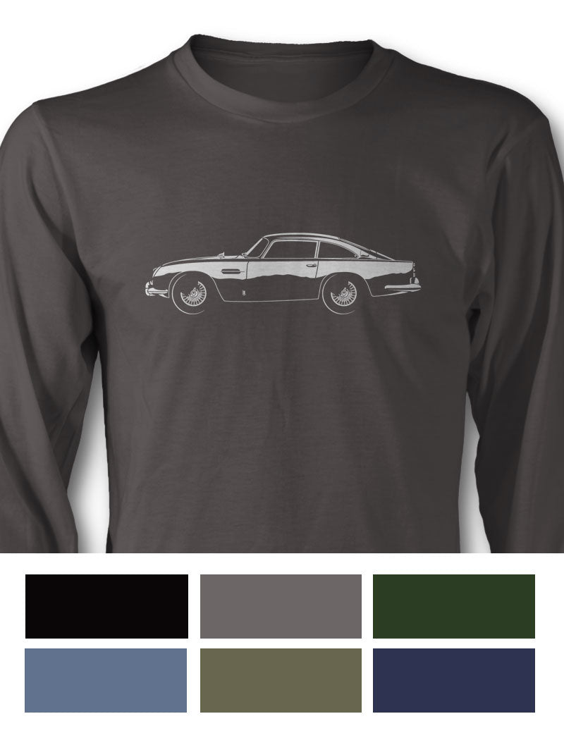 Aston Martin DB5 Coupe Long Sleeve T-Shirt - Side View