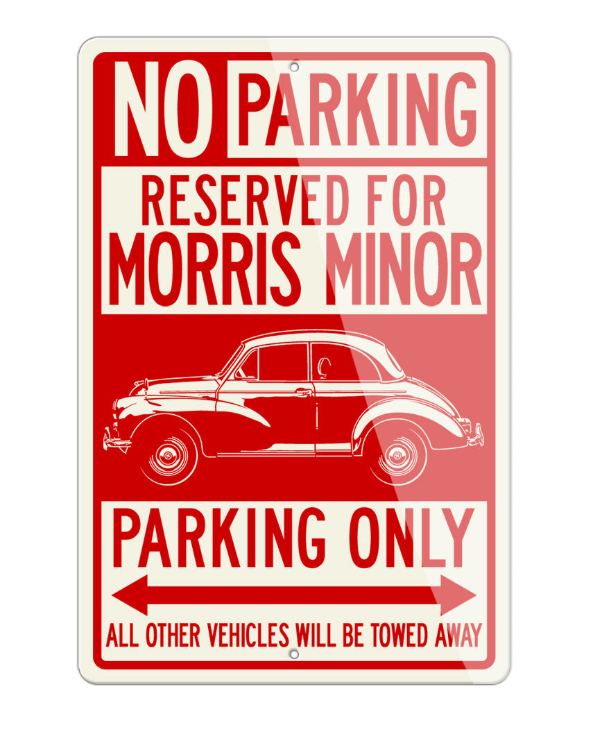 Morris Minor 2-Door Saloon Reserved Parking Only Sign