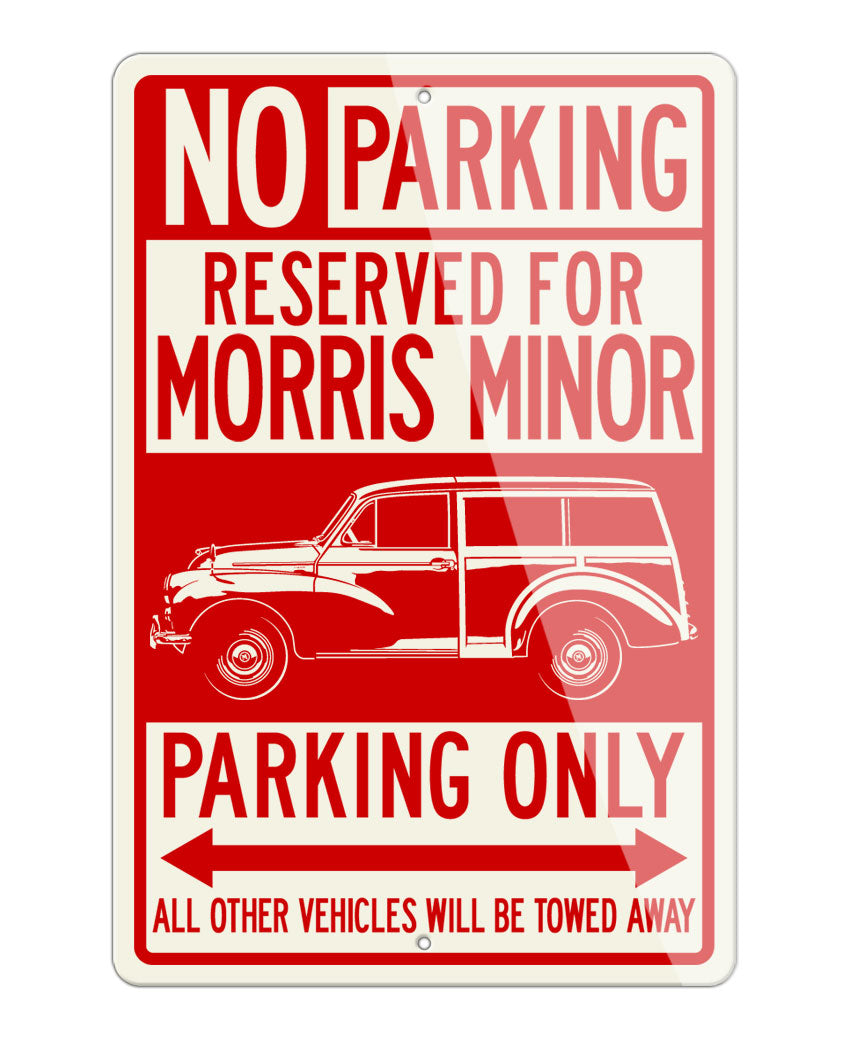 Morris Minor Traveller Woody Reserved Parking Only Sign
