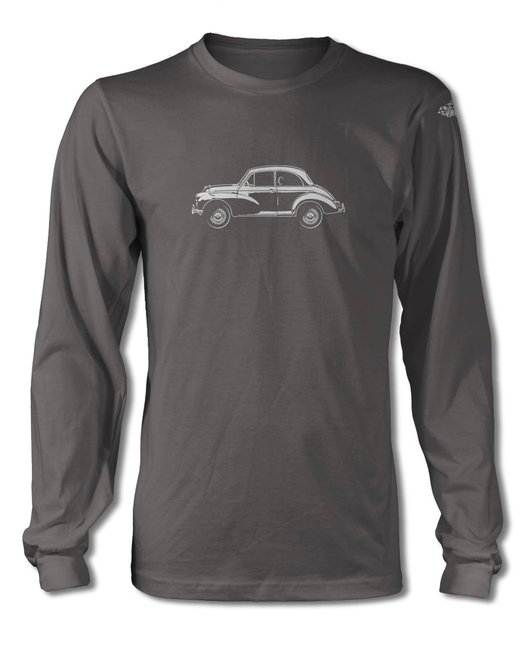 Morris Minor 2-Door Saloon T-Shirt - Long Sleeves - Side View