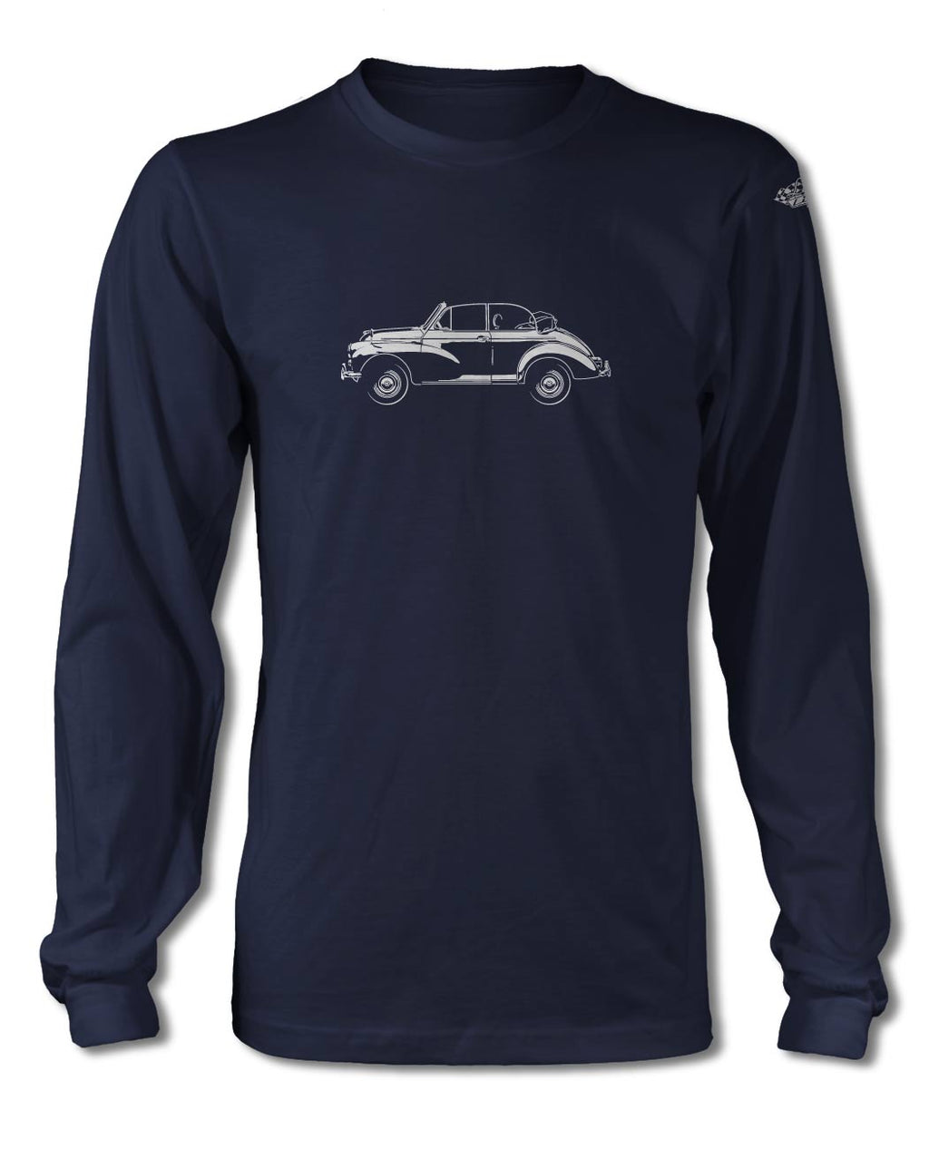 Morris Minor Tourer Convertible T-Shirt - Long Sleeves - Side View