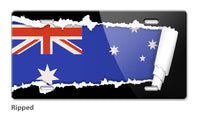 Australian Flag Novelty License Plate