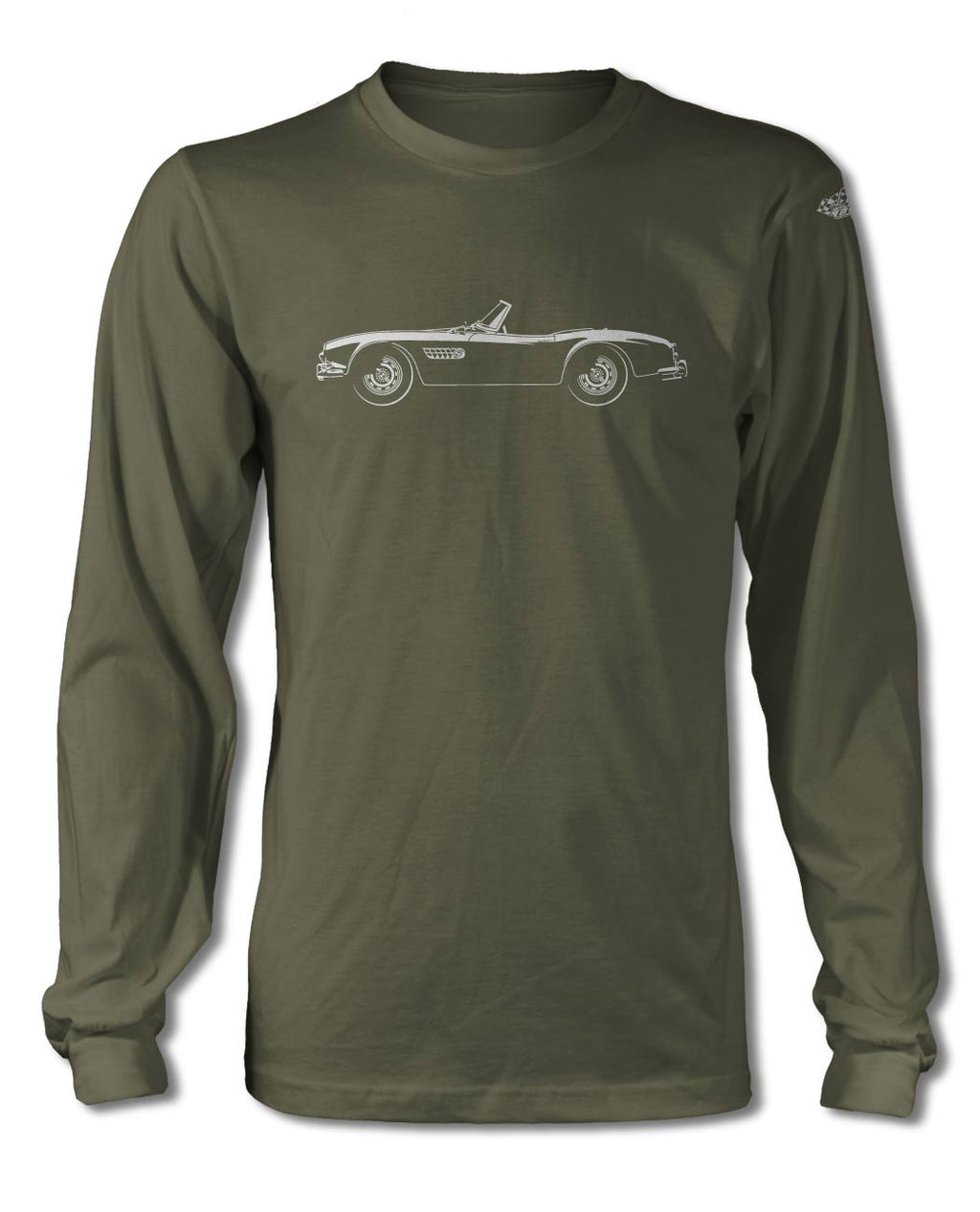 BMW 507 Roadster T-Shirt - Long Sleeves - Side View