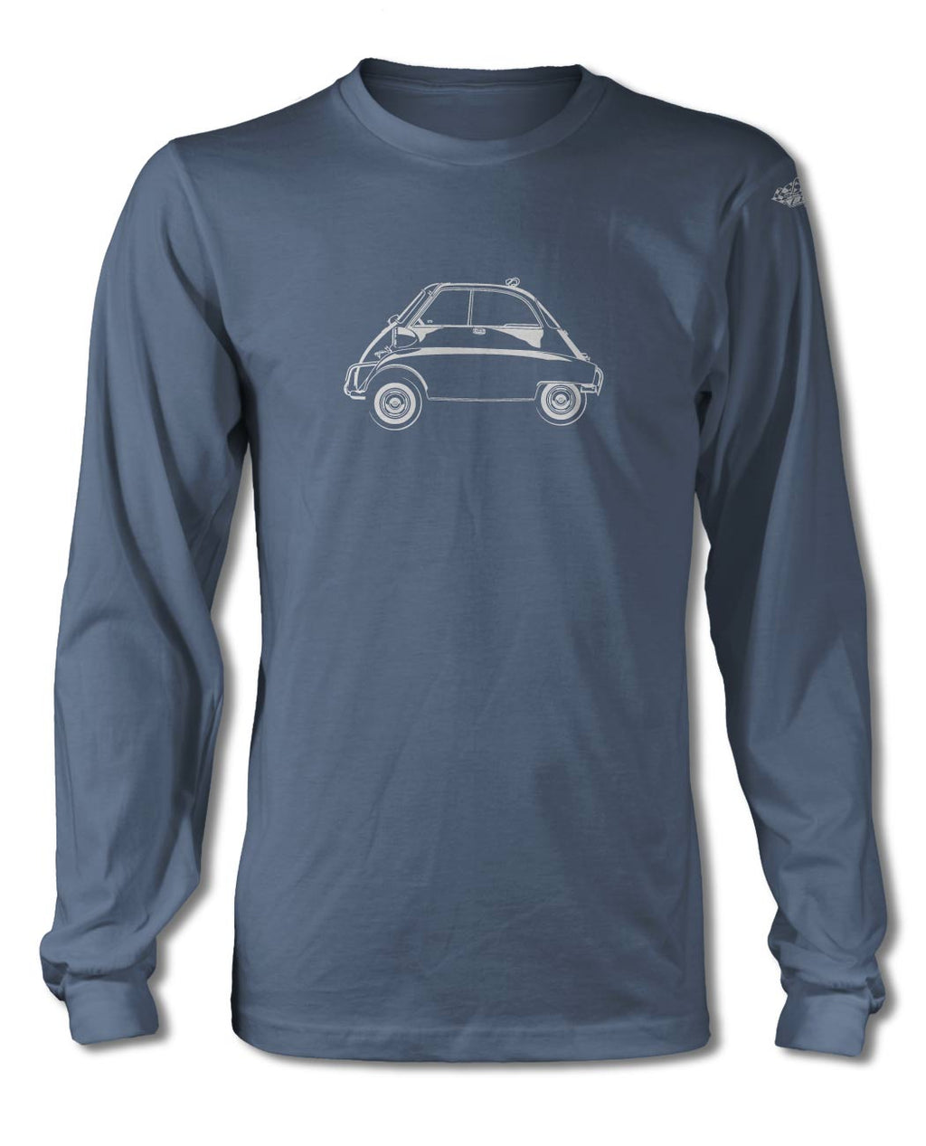 BMW Isetta T-Shirt - Long Sleeves - Side View