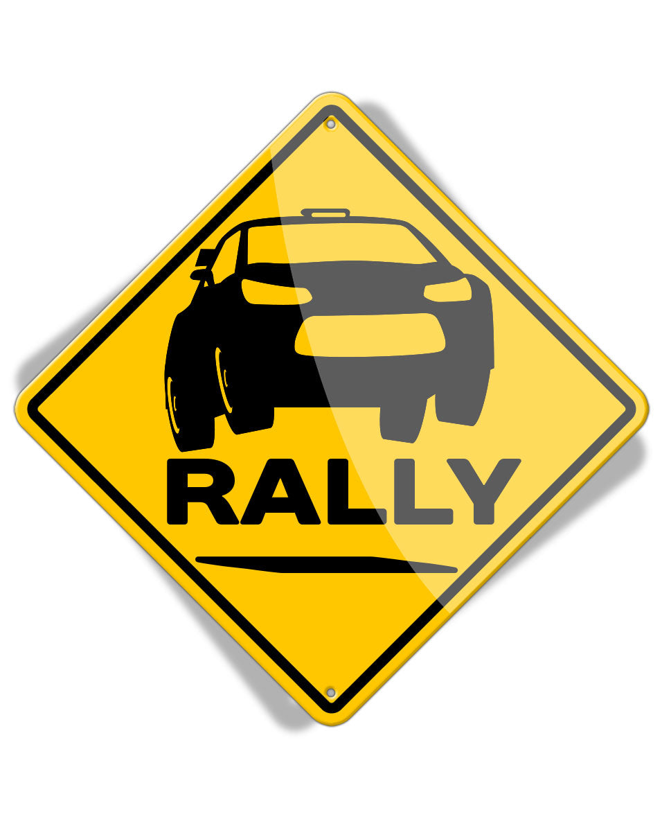 Caution Rally - Aluminum Sign