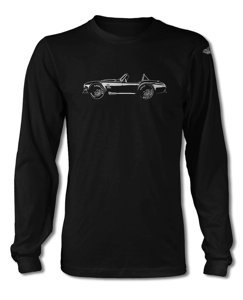 1965 AC Shelby Cobra 427 SC Side View T-Shirt - Long Sleeves