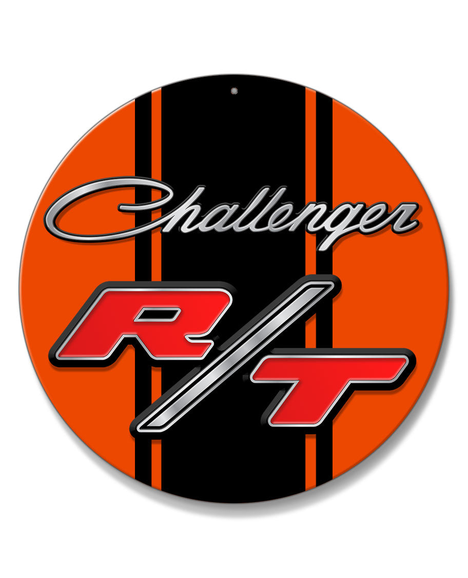Dodge Challenger RT 1970 - 1974 Emblem Novelty Round Aluminum Sign
