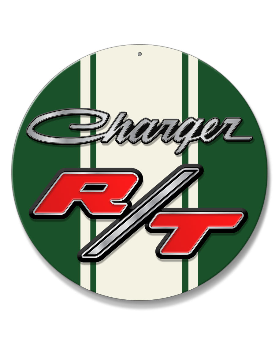 Dodge Charger RT 1968 - 1971 Emblem Novelty Round Aluminum Sign