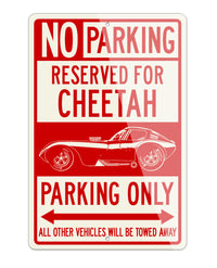 1963 Bill Thomas Cheetah Reserved Parking Only Sign