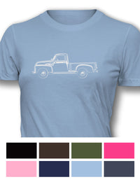 1947 - 1950 Chevrolet Pickup 3100 Women T-Shirt - Side View