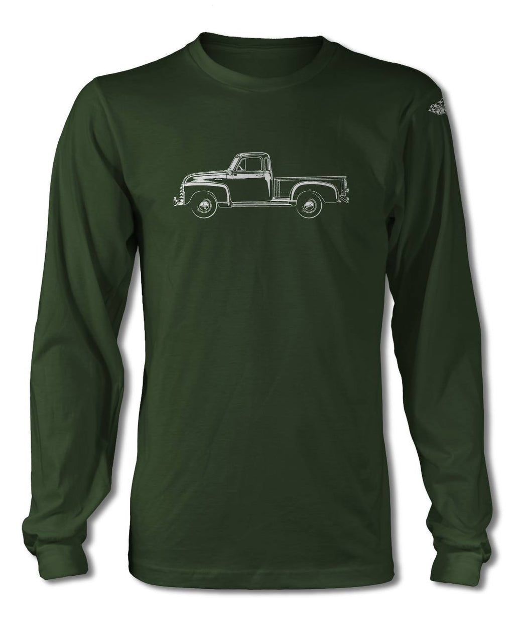 1951 - 1954 Chevrolet Pickup 3100 T-Shirt - Long Sleeves - Side View