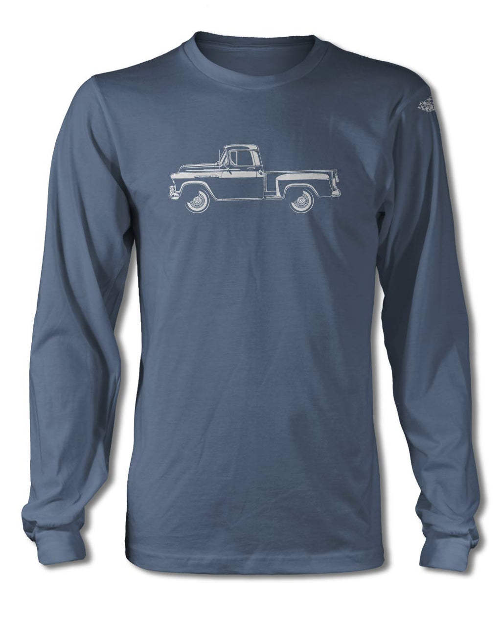1956 Chevrolet Pickup 3100 T-Shirt - Long Sleeves - Side View