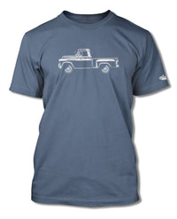 1957 Chevrolet Pickup 3100 T-Shirt - Men - Side View