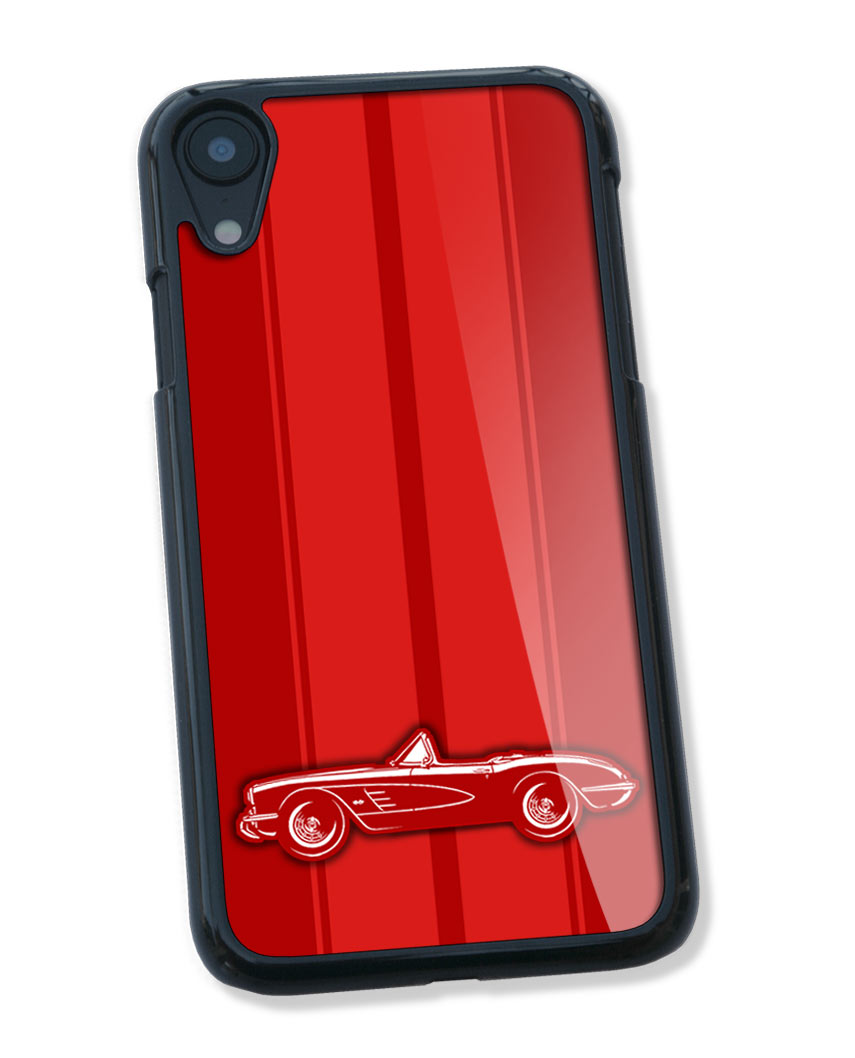 1958 Chevrolet Corvette Convertible C1 Smartphone Case - Racing Stripes