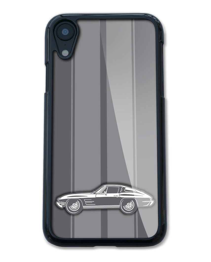 1963 Chevrolet Corvette Sting Ray Split Window C2 Smartphone Case - Racing Stripes