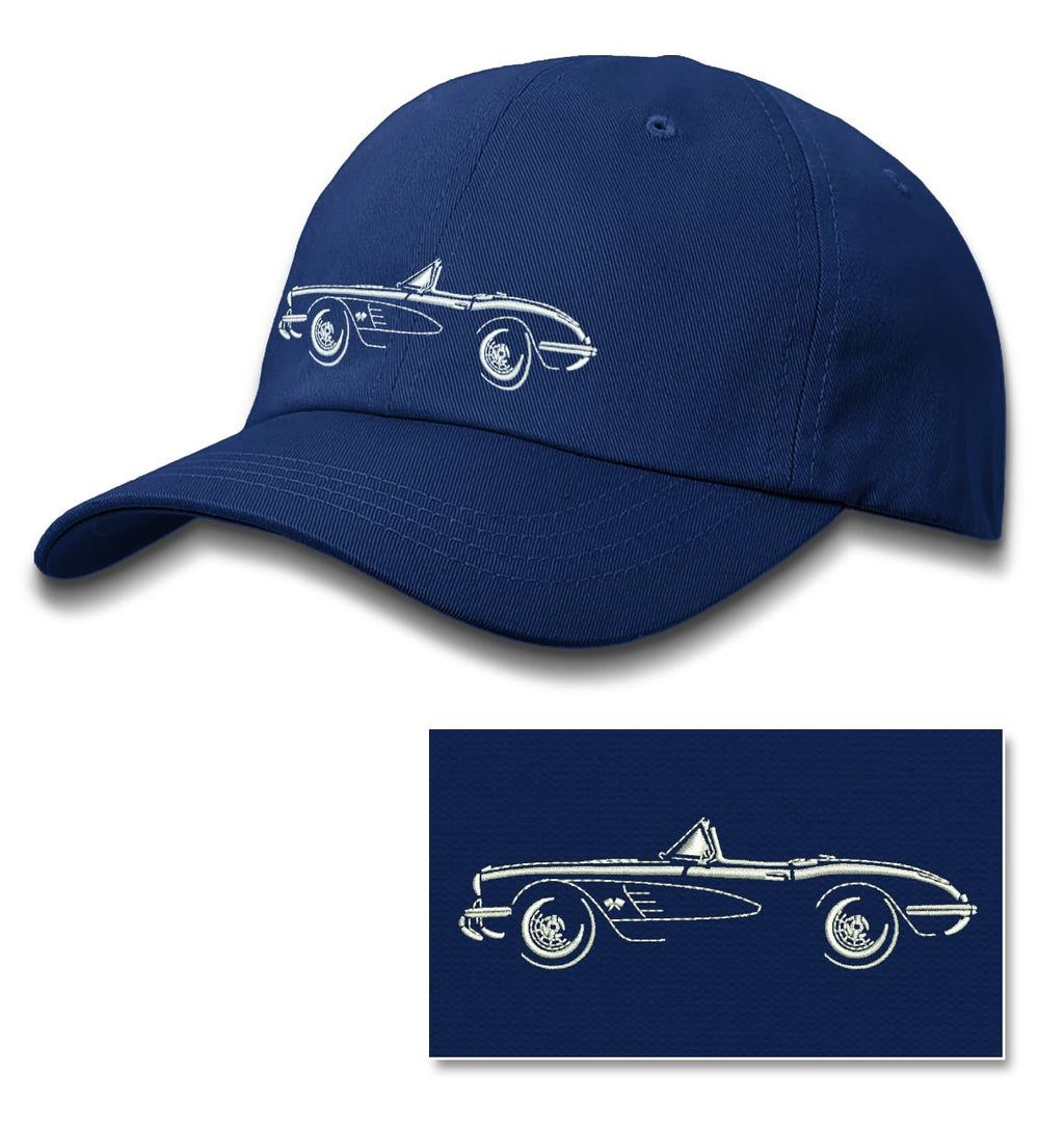 1958 Chevrolet Corvette Convertible C1 Baseball Cap for Men & Women