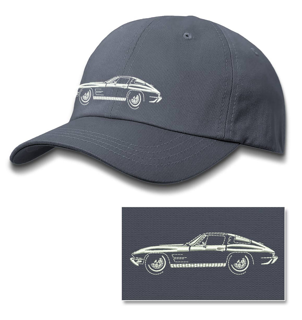 1963 Chevrolet Corvette Sting Ray Split Window C2 Baseball Cap for Men & Women