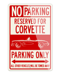 Chevrolet Corvette Convertible C1 Reserved Parking Only Sign