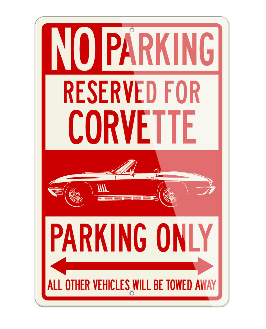 Chevrolet Corvette Coupe C2 Reserved Parking Only Sign