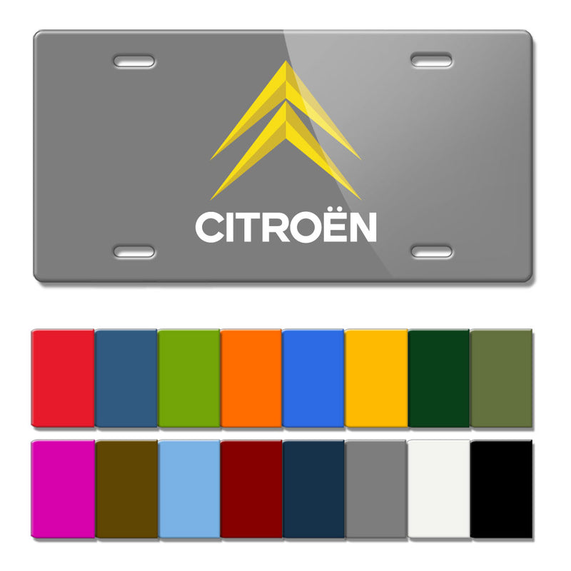 Citroen Vintage Logo Novelty License Plate