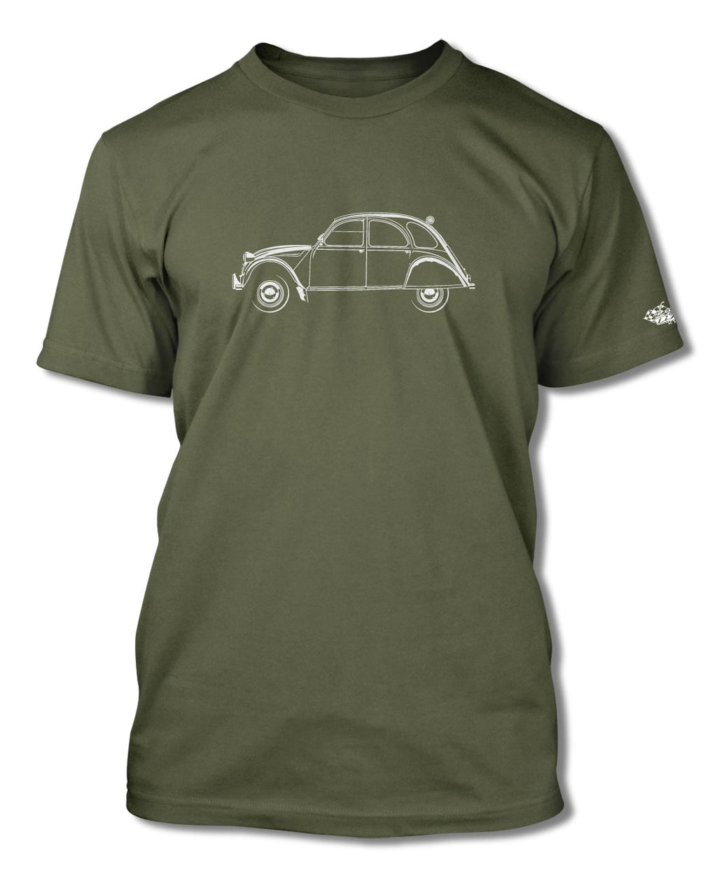 Citroen 2CV Deux Chevaux T-Shirt - Men - Side View