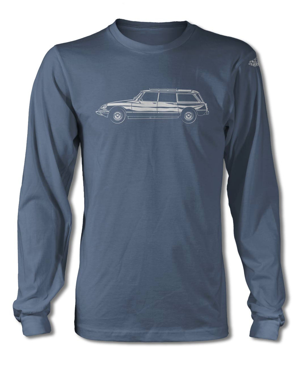 Citroen DS ID 1968 - 1976 Station Wagon T-Shirt - Long Sleeves - Side View