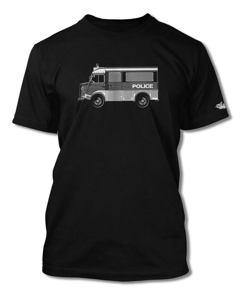 Citroen HY Type H Police Nationale 1947 – 1981 T-Shirt - Men - Side View