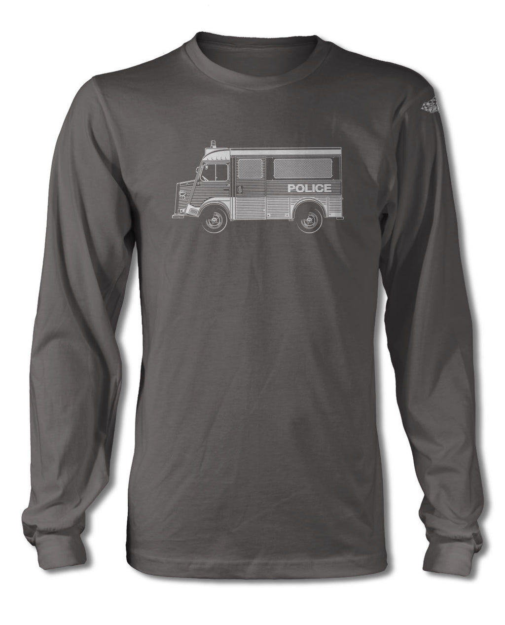 Citroen HY Type H Police Nationale 1947 – 1981 T-Shirt - Long Sleeves - Side View