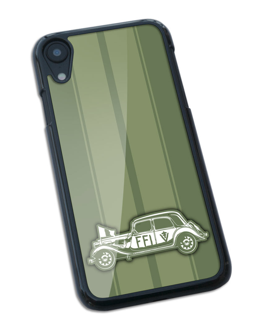 Citroen Traction Avant 11BL FFI 1944 - 1945 Smartphone Case - Racing Stripes