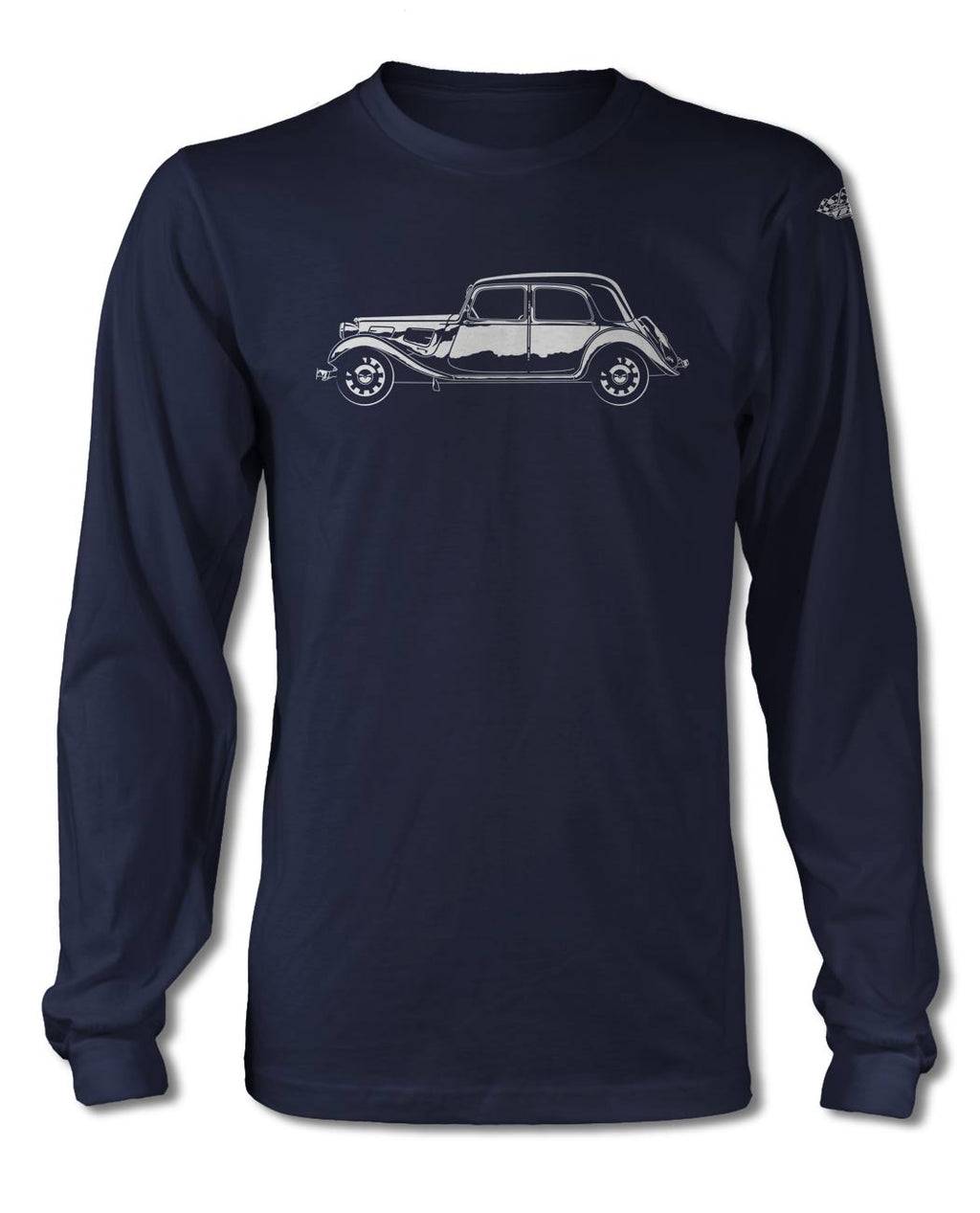 Citroen Traction Avant 11BL 1934 – 1957 T-Shirt - Long Sleeves - Side View