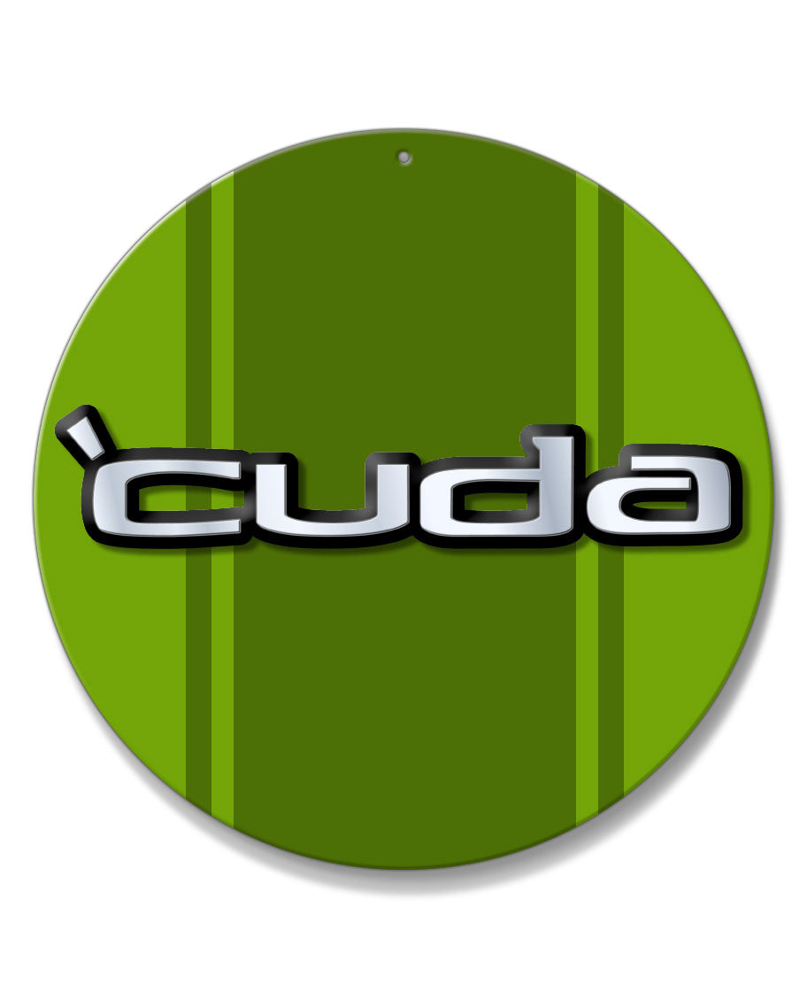 1970 - 1974 Plymouth 'Cuda Emblem Novelty Round Aluminum Sign