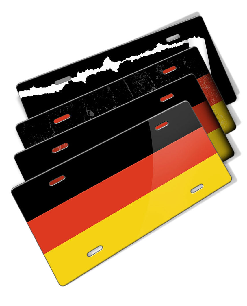 German Flag Novelty License Plate