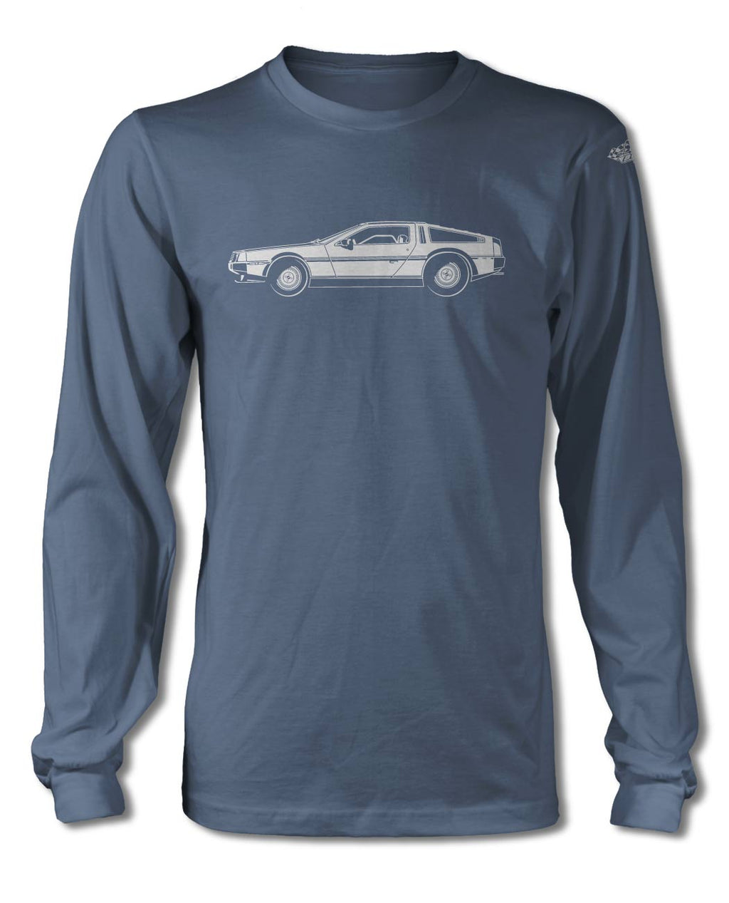 1981 DeLorean DMC-12 Coupe T-Shirt - Long Sleeves - Side View