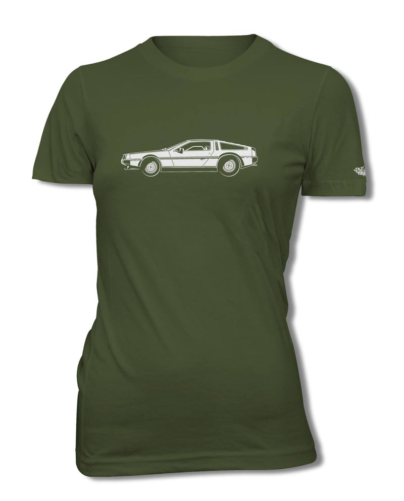 1981 DeLorean DMC-12 Coupe T-Shirt - Women - Side View