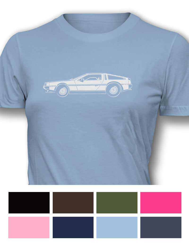 1981 DeLorean DMC-12 Coupe Women T-Shirt - Side View