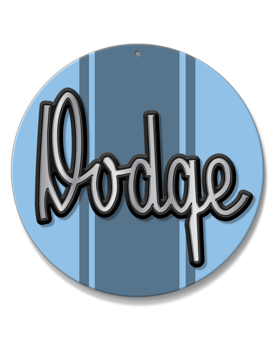 Dodge A100 Emblem Novelty Round Aluminum Sign
