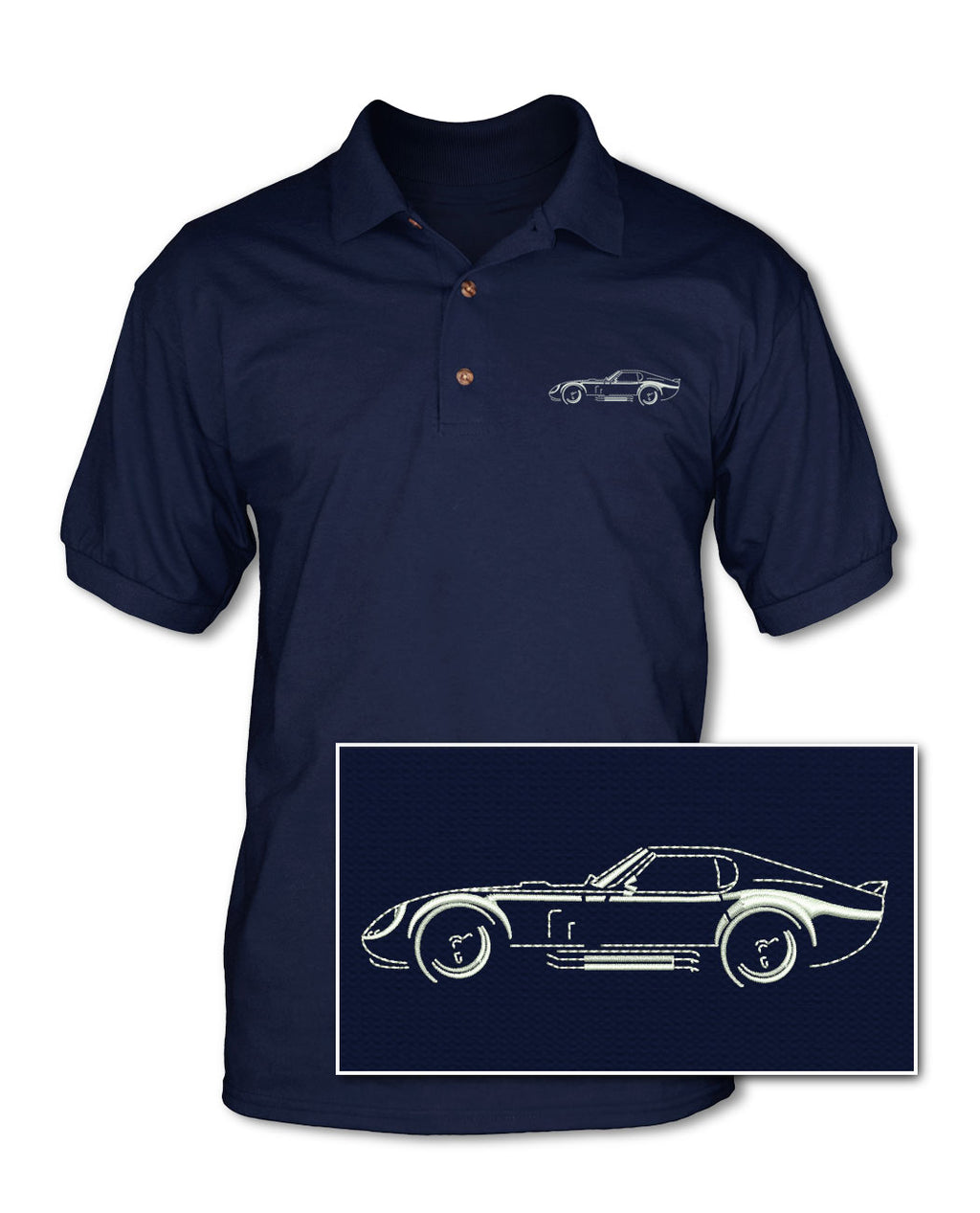 1964 Daytona Coupe Art of Light - Adult Pique Polo Shirt