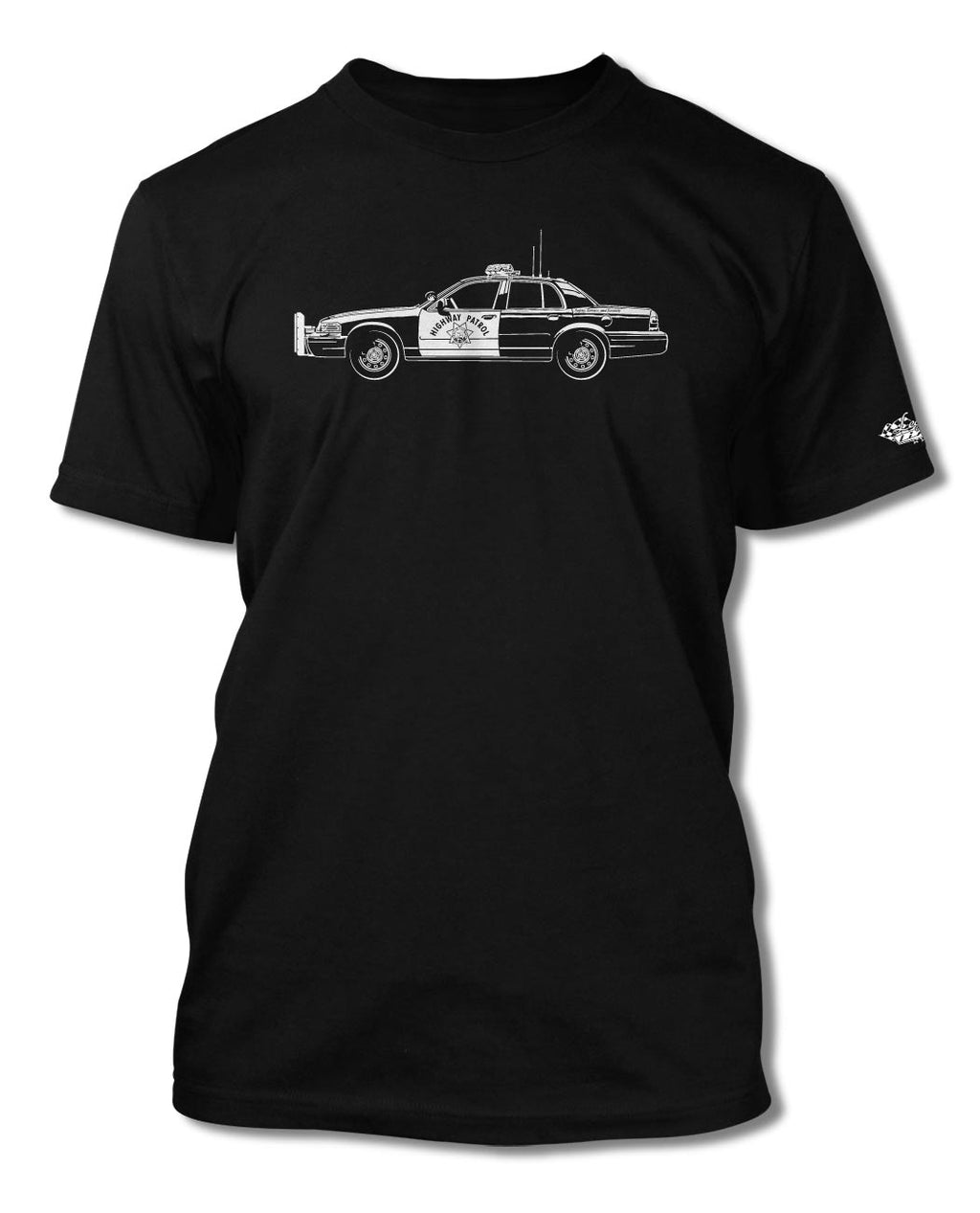 Ford Crown Victoria CHP T-Shirt - Men - Side View