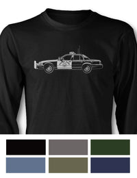 Ford Crown Victoria CHP Long Sleeve T-Shirt - Side View