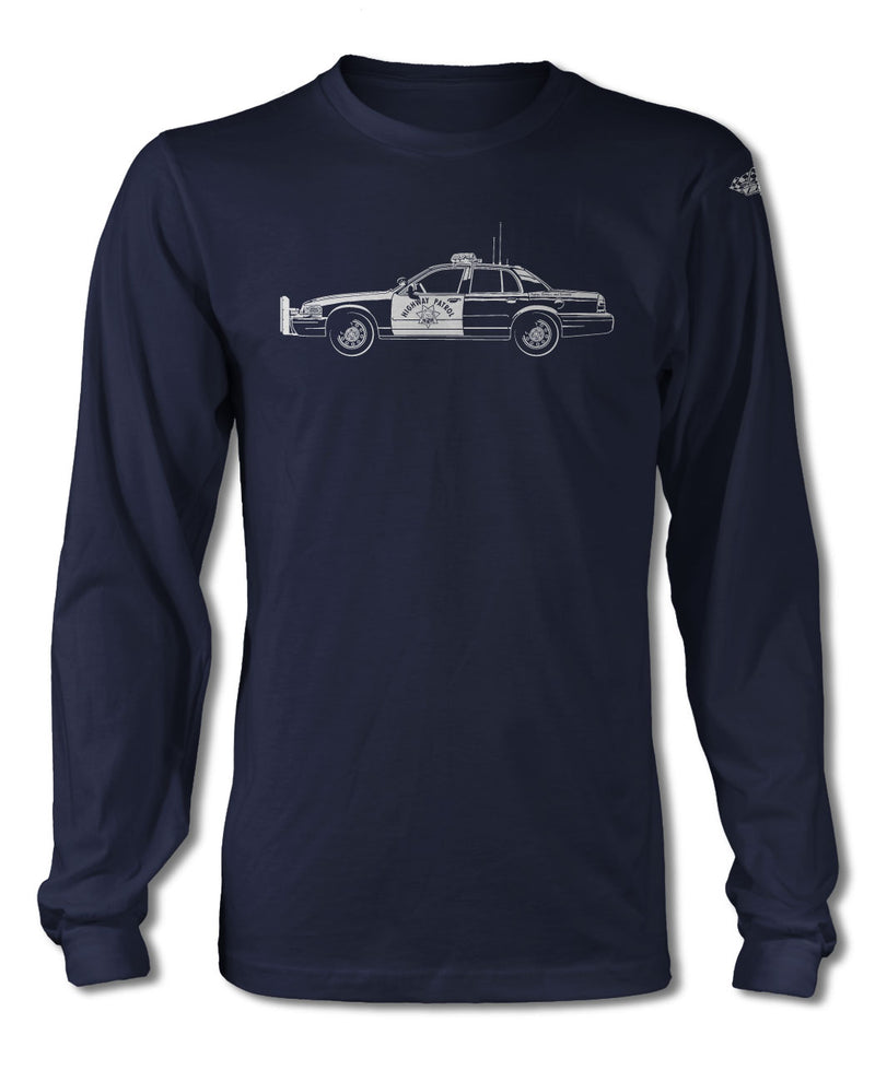 Ford Crown Victoria CHP T-Shirt - Long Sleeves - Side View