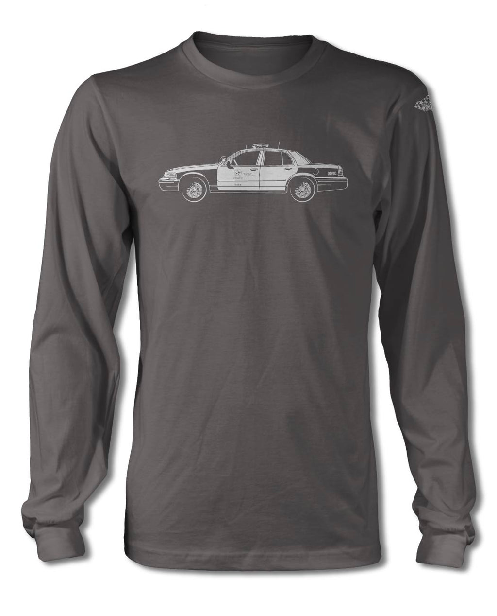 Ford Crown Victoria LAPD T-Shirt - Long Sleeves - Side View