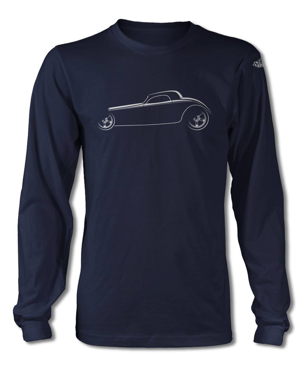 1934 Ford Coupe Hi Boy T-Shirt - Long Sleeves - Side View