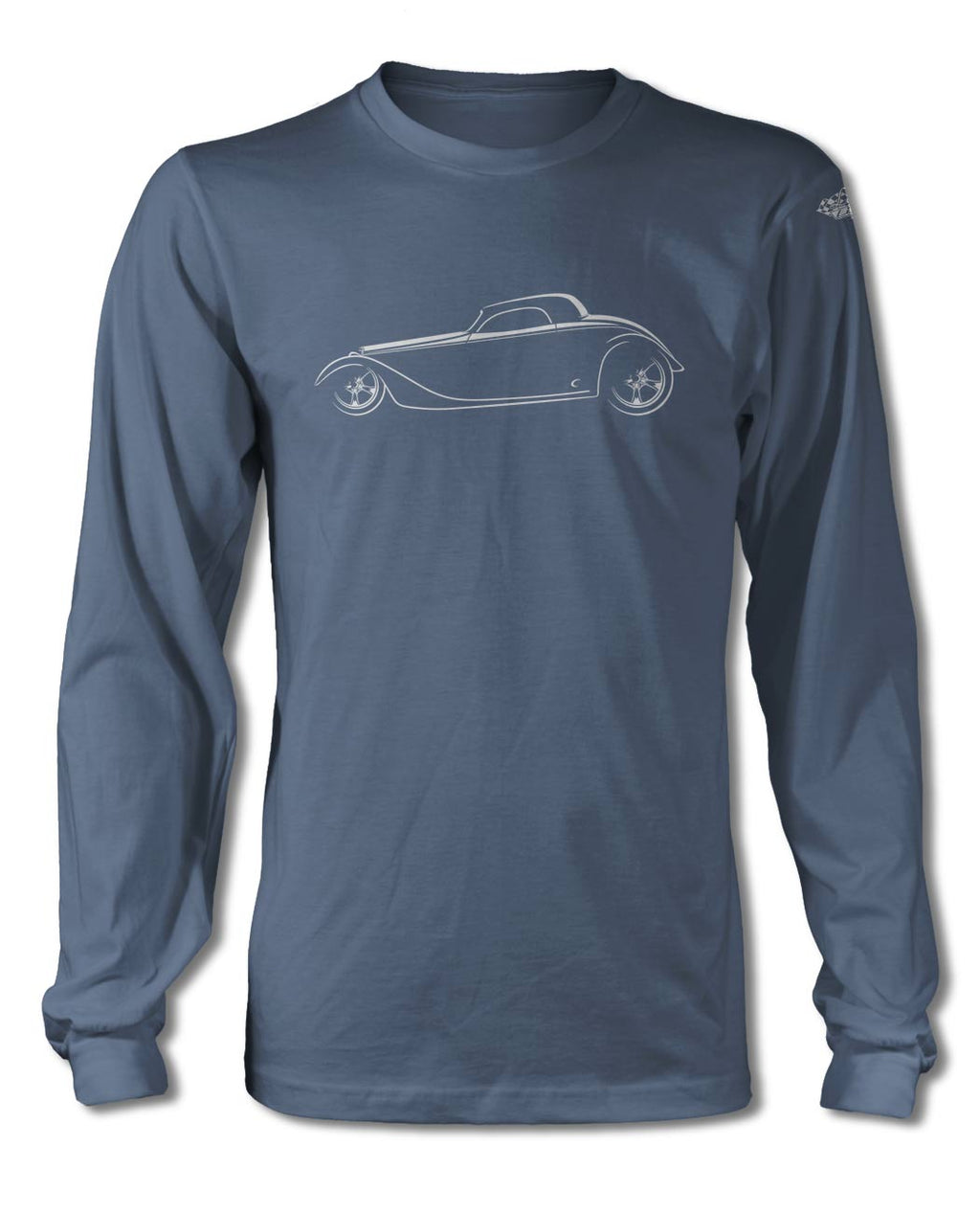 1934 Ford Coupe Hot Rod T-Shirt - Long Sleeves - Side View