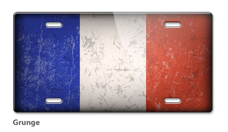 French Flag Novelty License Plate