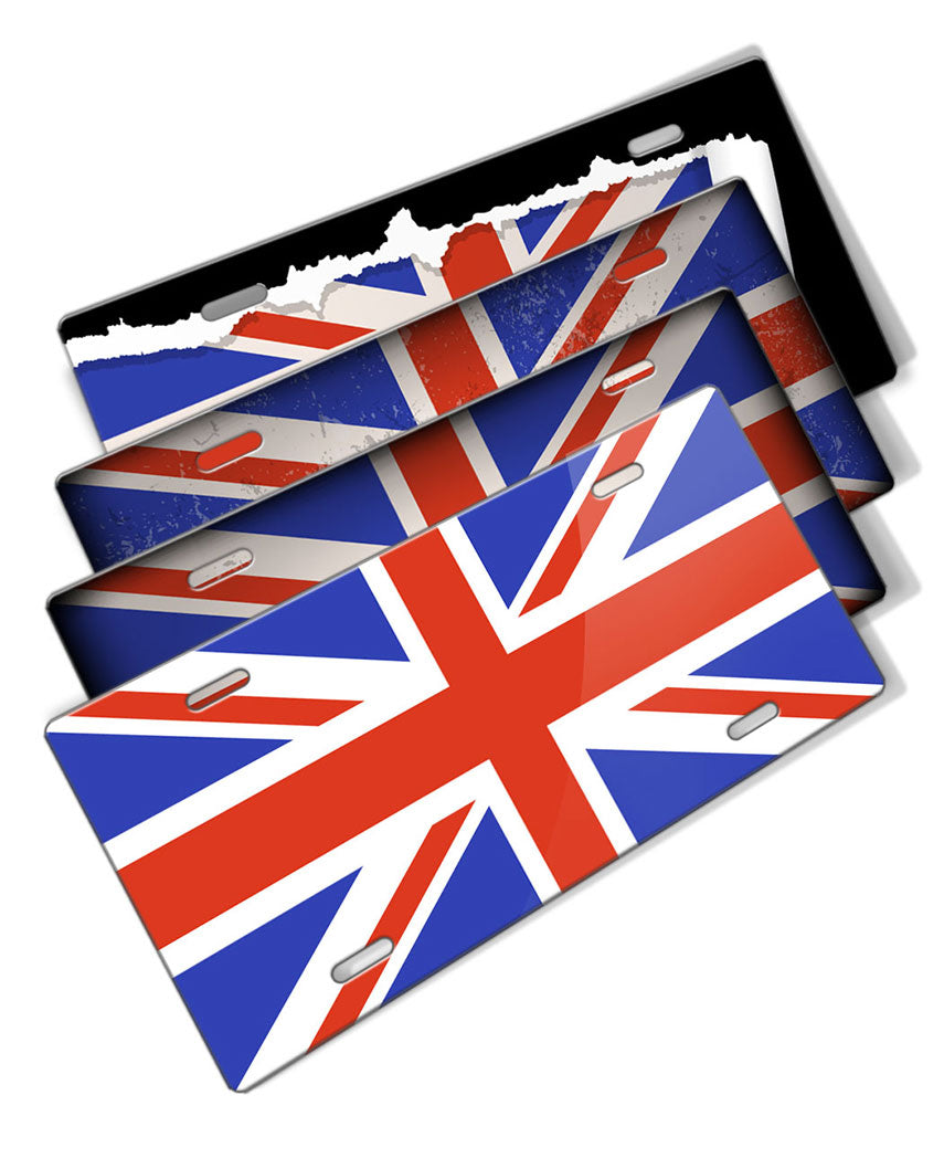 British Flag Novelty License Plate